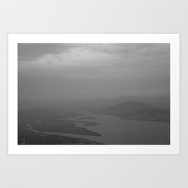 Black and white light and shadow VlI Art Print