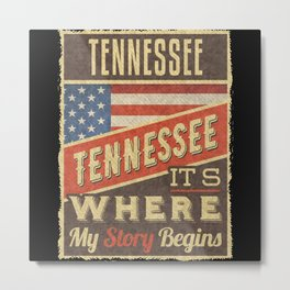 Tennessee USA Flag Metal Print