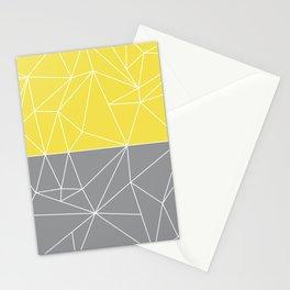 Mozaik Gray Yellow Stationery Cards