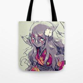 Fox girl sketch Tote Bag