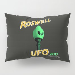 Roswell UFO Festival Graphic on Grey Background Pillow Sham