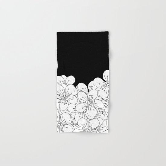 Cherry Blossom Boarder Hand & Bath Towel