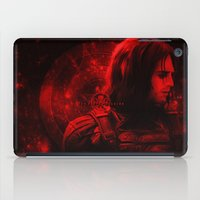 bucky barnes iPad Cases featuring The Winter Soldier (Bucky Barnes) Hydra Print by thecannibalfactory