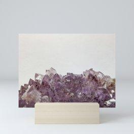 Amethyst cluster Mini Art Print