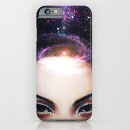 I Need My Space // Stars Galaxy Woman Girl Consciousness Awakening Soul Chakra Energy Healing iPhone Case