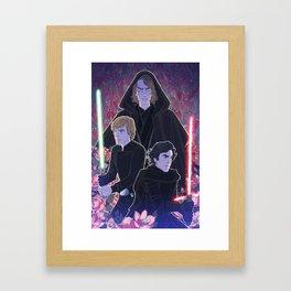 Sons of Skywalker Framed Art Print