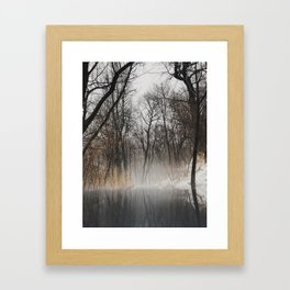Frozen park Framed Art Print