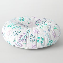Watercolor floral pattern Floor Pillow
