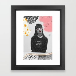 Babes Against Bullshit Framed Art Print