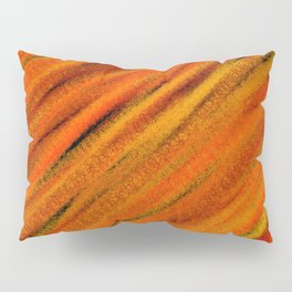Rough Red Embers Abstract Pillow Sham