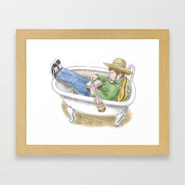 Bathtub Banjo Framed Art Print