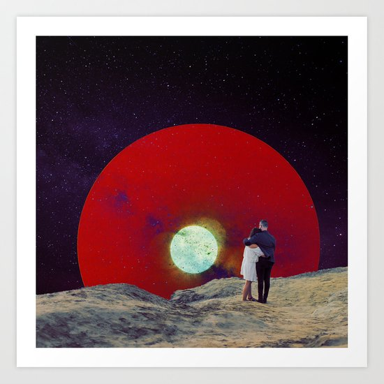 Together with the Sunset Art Print