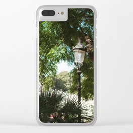 Lamppost in the Sun Clear iPhone Case