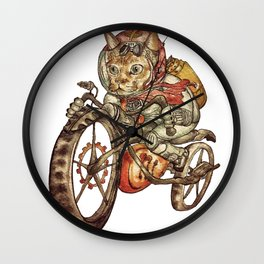 Berserk Steampunk Motorcycle Cat Wall Clock