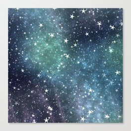 Collection of stars night view Canvas Print