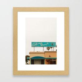 Solona Beach Framed Art Print