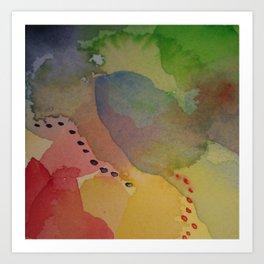 Watercolor Abstract Mini Series #2 Art Print