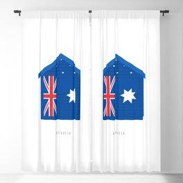 Australia, Brighton Beach Bathing Box, Melbourne Blackout Curtain