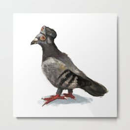 The coup Pigeon Metal Print