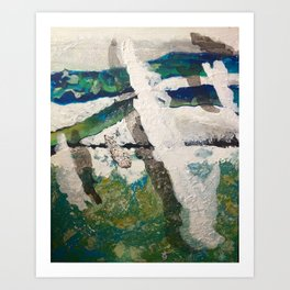 Polar Bear Going Home Art Print