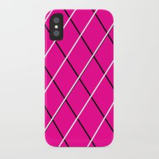 pink, black and white iPhone X Slim Case