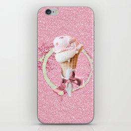 Pink Sugar Icecream Cone iPhone Skin