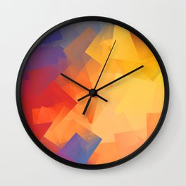 Cubism Abstract 199 Wall Clock