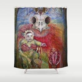 The Surrogate Mother-Goddess of Wisdom holding Alter-Ego Baby Bogomil Shower Curtain