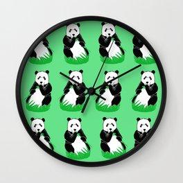 Panda Pattern Art Wall Clock
