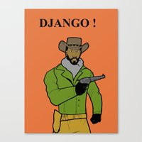 django Canvas Prints featuring DJANGO by Jason Cooper