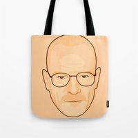 walter white Tote Bags featuring Walter White by sknny