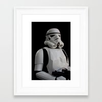 stormtrooper Framed Art Prints featuring Stormtrooper by Pixel Villain