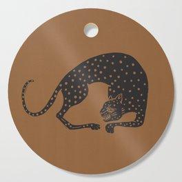 Blockprint Cheetah Cutting Board