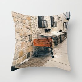 orange cart, alone Throw Pillow