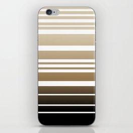 Bay Ombre Stripe: Neutral iPhone Skin