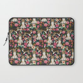Sheltie dog lover gifts shetland sheep dog must have unique pet portrait florals dog pattern Laptop Sleeve