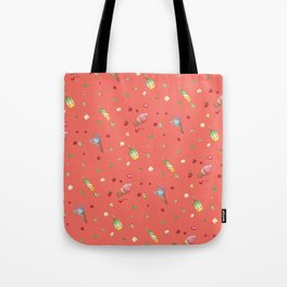 Living Coral Red Icecream print Tote Bag