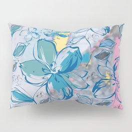 Drawing flowers - abstract background Pillow Sham