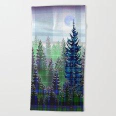 Plaid Forest Beach Towel