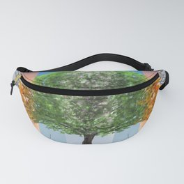 Digital painting of the seasons of the year in a tree Fanny Pack