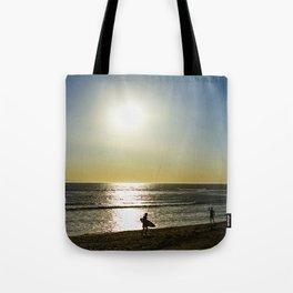 kite surfers Tote Bag