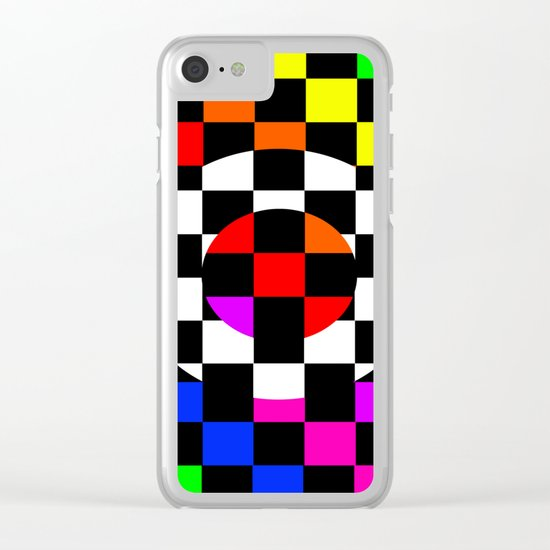 Triggle | Colorful Secret Geomoetry | Play Clear iPhone Case