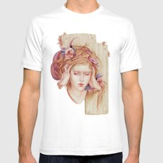 Sensory Overload White SMALL Mens Fitted Tee