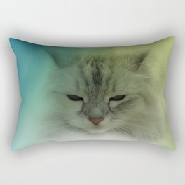 the cat is watching you Rectangular Pillow