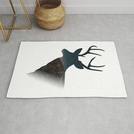 Deer silhouette mountain outdoor antlers gift Rug