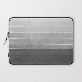 Brushstroke - Ombre Grey, Charcoal, minimal, Monochrome, black and white, trendy,  painterly art  Laptop Sleeve