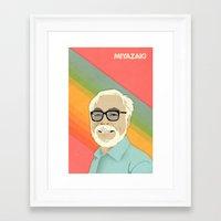 miyazaki Framed Art Prints featuring Miyazaki by Perry Misloski