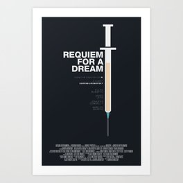 Requiem For A Dream – Minimal Movie Poster – revised Art Print