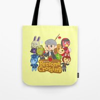 persona 4 Tote Bags featuring Persona Crossing by Cassie S