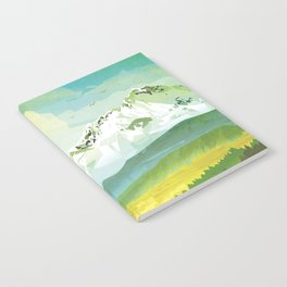 Earth Retro Space Poster Notebook
